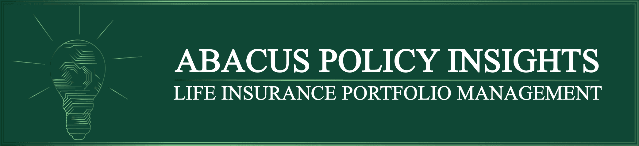The abacus policy insights book pricing tool logo